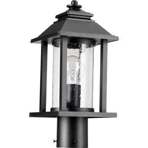 Quorum International Crusoe Clear 1-light Post Light (Brown)
