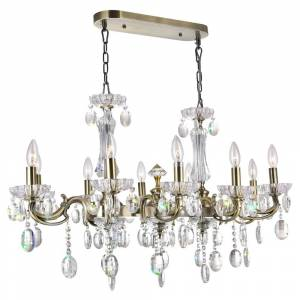 CWI Lighting 10 Light Chandelier with Antique Brass Finish
