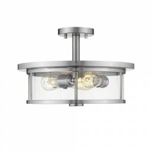 Avery Savannah 3 Light Semi Flush Mount (Silver)