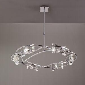 Mantra Lighting Six Light Crystal Chandelier-KROM (Chrome)