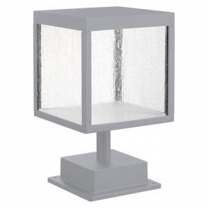 Access Lighting Reveal 1-light Satin Gray LED Outdoor Square Pier Mount, Seeded Glass (Grey)
