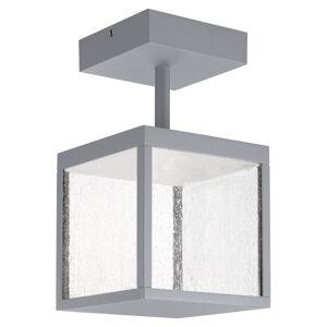 Access Lighting Reveal 1-light Satin Gray LED Outdoor Square Semi-Flush Mount, Seeded Glass (Satin Gray)