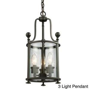 "Avery Wyndham Bronze Pendant (Brown - 17 3/4""3 Light Pendant)"