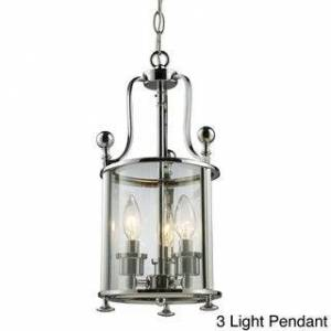 "Avery Wyndham Cage Multi-Light Fixture (17 3/4"" 3 Light Pendant - CHROME)"