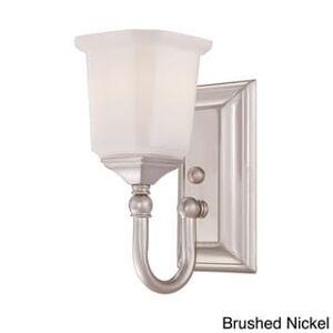 Quoizel Quoize 'Nicholas' One-light Bath Fixture (Silver - Nickel)