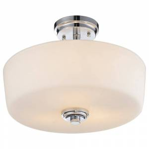 Avery Home Lighting Lamina 3-light Semi-flush Mount Light (Chrome)