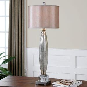 Uttermost Loredo Mottled Grey Glass Table Lamp (Loredo)