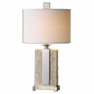 Uttermost Bonea 1-light Stone Ivory Table Lamp (Stone Ivory Table Lamp)