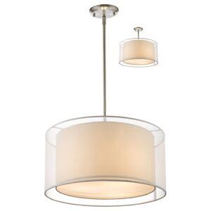 Avery Home Lighting Sedona 3-light White Brushed Nickel Pendant (White)