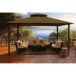 Paragon Group USA Catalina 11-foot x 14-foot Fabric/Aluminium Backyard Gazebo with Cocoa Canopy