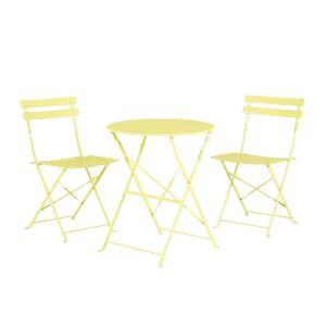 Avandeo 3 Piece Patio Bistro Set FIORI (Lime Green)