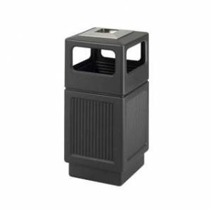 Safco Outdoor Canmeleon 38-gallon Waste Receptacle (Black)