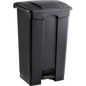 Safco 23 gal. Plastic Step-on Waste Receptacle (Black)