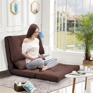 "LivEditor ORIS FUR. Sofa Bed Adjustable Folding Futon Sofa Video Gaming Sofa (7'6"" x 9' - Brown)"