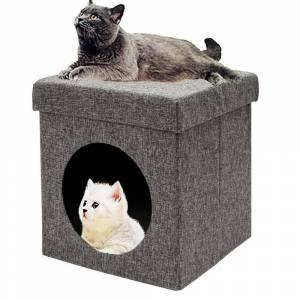 Overstock Pets House Folding Chair Cat Litter Pets Bed Cat House (Grey)