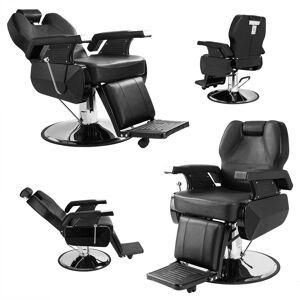 Overstock Classic Hydraulic Recline Hair Salon Iron Leather Sponge Barber Chair (Black)