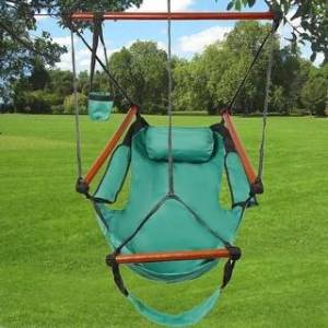 Overstock S-shaped Hook High Strength Assembled Hanging Seat Hammock Multi-Color (Green)