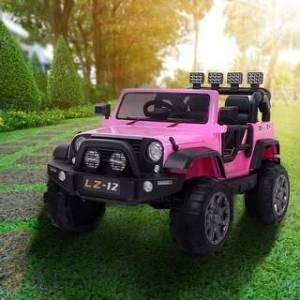 Overstock 12V Kids Ride On Car Toy Jeep Rechargeable Battery Remote Control (Pink)