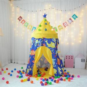 Overstock Children Foldable Princess Castle Play Tent Toy House Blue with Light (Play Tents - Kids)