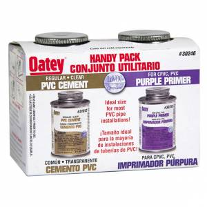 Jensen Oatey 30246 4 Oz Solvent Cement Handy Pack 2 Count (Cement Handy Pak)