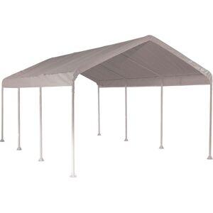 ShelterLogic Super Max 10 ft. x 20 ft. White Heavy Duty 8-Leg Canopy (1020 Cpy, 2 inch 8Leg Frame, Wh Cvr)