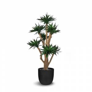 LEPRESENT Agave Artificial Faux Botanical - Green - 46 Inch
