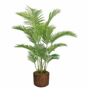 """Laura Ashley 76"""" Real Touch Palm Tree in Fiberstone Planter"""