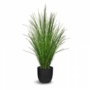 LEPRESENT Potted Grass Artificial Plant (Green)