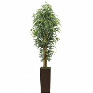 "Vintage Home 7-foot High End Realistic Silk Bamboo Tree with Planter - 84"" (84"")"