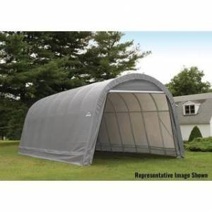 ShelterLogic ShelterCoat 15 x 28 ft. Garage Round STD (Grey)
