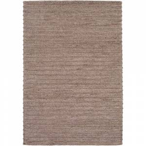 "Strick & Bolton Carr Handwoven Viscose & Wool Area Rug (Light Grey 2'6"" x 8' Runner)"