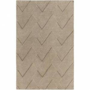 Overstock Hand-Knotted Beijing Wool/Cotton Area Rug (8' x 10' - Light Brown)