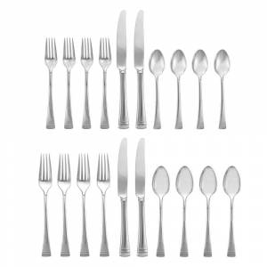 Lenox Federal Platinum Silver Stainless Steel 5-piece Flatware Place Setting (Service for 4) (FEDERAL PLATINUM FW 20 PC SET)