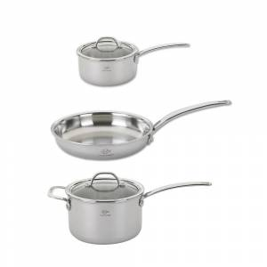 Lenox  5-Piece Tri-Ply Stainless Steel Cookware Set (Set, Silver)