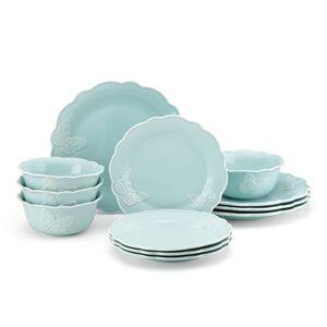 Lenox Butterfly Meadow Carved Blue 12-piece Dinnerware Set (Butterfly Meadow)