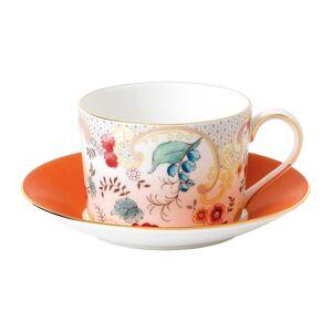 Wedgwood Wonderlust Rococo Flowers Teacup and Saucer Set