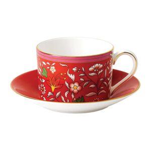 Wedgwood Wonderlust Crimson Jewel Teacup and Saucer Set