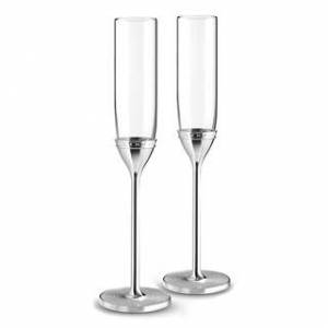 Wedgwood With Love Nouveau Metal and Crystal Toasting Flutes (Set of 2) (Silver)