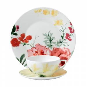 Wedgwood Floral 9-inch 3-piece Fine Bone China Buttercup Set