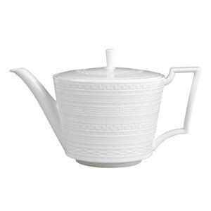 Wedgwood White Glaze Intaglio Fine Bone China Teapot