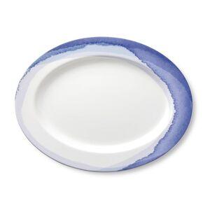 Lenox Indigo Stripe Floral Oval Platter
