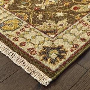 "Tommy Bahama Angora Handmade Wool Traditional Area Rug (Brown/Cream 2'6"" x 10' Runner)"