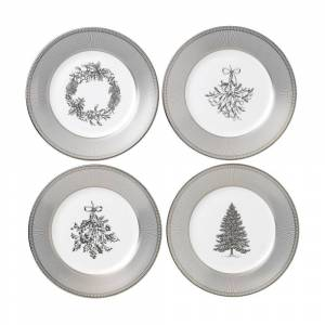 Wedgwood Winter White Giftware 4-piece Salad Plates