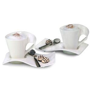 Villeroy & Boch New Wave Caffe Mugs and Spoons Set (Caffe Mugs)