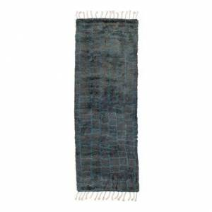 Solo Rugs Grit and Ground Boxy Shag Hand-Knotted Area Rug (Light Gray - 3' x 9')
