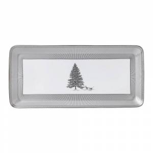 Wedgwood Winter White 13.4-inch Rectangular Sandwich Tray (1 Piece)
