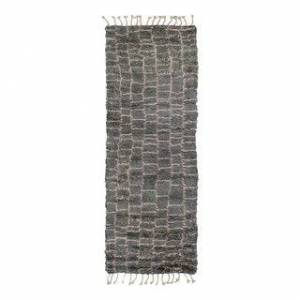 Solo Rugs Grit and Ground Boxy Shag Hand-Knotted Area Rug (Charcoal - 3' x 9')