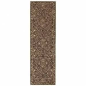 "Tommy Bahama Vintage Traditional Wool Area Rug (Brown/Blue 2'7"" x 9'4"" Runner)"