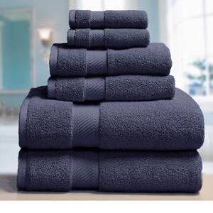 Elle 100-percent Combed Cotton 6-piece Towel Set (Blue)