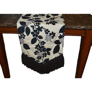 "Canaan Company Tabatha Decorative Table Runner (72"", Black/Ivory)"